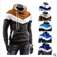 Wholesale Cheap Casual Hoodies - Fall-Winter New Men Hooded Coat Color Matching Sweatshirts Men's Teenagers Hoodies Cheap coat For Men casual jacket sportswear