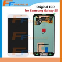 Wholesale Galaxy Home Buttons - Original and OEM LCD Screen & Digitizer Assembly with Home Button for Samsung Galaxy S5 G900T G900V G900P G900 G900R4 G900A G900F 5pcs lot