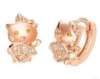 Wholesale knot earings resale online - gold silver cat lady s earings CM sp3658