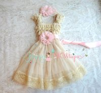 Wholesale Girls Lace Flower Clothing Set - Baby Girls' dress, Baby Pink Chiffon Lace Dress set, baby girls clothing,1st Birthday dress, Flowy dress,Flower girls dress,Princess Dress