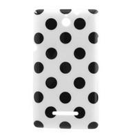 xperia case gel al por mayor-Venta al por mayor 8 colores Polka Dots Soft TPU cubierta de la caja del gel para Sony Xperia E Dual C1605 C1604 Envío gratis