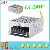Wholesale Transformer 24v 1a - Voltage Transformer 24W 1A Switch Power Supply for Led Strip Led control Led switch AC 100V-240V to DC 24V