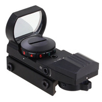 Wholesale Types Rifle Scopes - Holographic 11mm or 20mm Picatinny Weaver Rail 4 Type Reticle Red Green Dot Sight Scope
