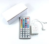 Wholesale 24 Key Ir Controller - 3528 5050 5630SMD LED Strip light 24 44 Keys IR Remote Controller for RGB SMD string Lights DC12V