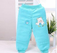 Wholesale Baby Open Crotch Pants - Wholesale-Baby winter pants, new arrival thicking cotton-padded open crotch baby winter pants for girls boys