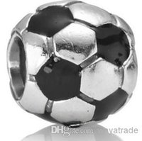 Wholesale Crystal Football Charms - New! Free shipping 925 Sterling Silver Football Shape With Crystal Beads of The European Fashion Charm Bracelets Snake Chain Jewelry