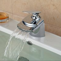 Wholesale Cheap Water Faucets - hot sale cold & hot water single lever basin faucet mixer taps new design chrom finish sinks deck mounted single handle cheap