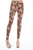 Wholesale Cheap Leggings Plus Size Women - Drop Shipping Hot Floral Printed Leggings Black supernova sale Elastic Skinny Pants Cheap Price women legging plus size FG1510
