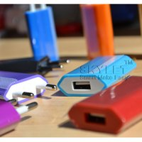 Wholesale Colorful Iphone 4s Wall Charger - For iPhone 6 5V 1000mah Colorful EU US Plug USB Wall Charger AC Power Adapter Home Charger for iPhone 4 4S 5 5G 5S Samsung Galaxy S3 S4 S5