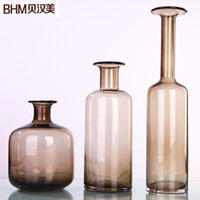 Cheap American Home Furnishings Glass Vase Ornaments Modern Minimalist American Creative Home Decorations Ornaments Living