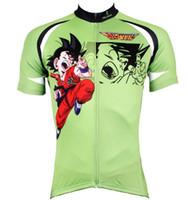 camisas rápidas rápidas venda por atacado-Pérola Animação Verde Ciclismo Jersey Fresco Dos Desenhos Animados de verão de secagem rápida de Manga Curta Roupas de Ciclismo frete grátis