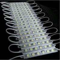 mavi led ışık modülleri toptan satış-Billboard LED lamba ışığı için 500X arka LED Modülü 5050 SMD 6 LED 120 Lümen Yeşil / Kırmızı / Mavi / Sıcak / Beyaz Su geçirmez IP65 DC 12V DHL Tarafından