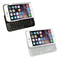 Wholesale Mini Wireless Bluetooth Sliding Keyboard - Free DHL iPhone 6 4.7inch Wireless Bluetooth Keyboard Ultra Thin Hard Plastic Slide Out Cover Case Cell Phone Keyboards With Backlight