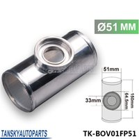 "Wholesale Aluminum Intake Pipe - High Quality UNIVERSAL 51MM 2"" TURBO ALUMINUM FLANGE PIPE TUBE SSQV SQV BOV BLOW OFF VALVE TK-BOV01FP51"