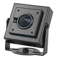 cmos de color camara por cable al por mayor-1200 TVL CCTV cámara de seguridad CMOS Color Mini cámara 3.7mm Pinhole Lens Mini cámara CCTV cámara de seguridad