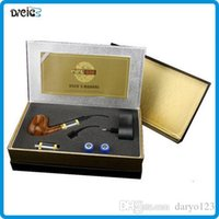 Wholesale Ecig Ego Set - E Pipe 618 Epipe ecig smoking pipe Clearomizer ego starter kit Imitate Solid Wood Design With Best Top-grade Package Set DHL Free ^^12