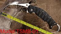 ganchos de garra al por mayor-Envío gratis Nuevo TwoSun Knives Mirror 420J2 Hook Cut Blade Karambit Caza al aire libre Plegable de bolsillo Garra G-10 Mango Cuchillo TSMB