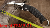 Wholesale knife hooks - Free shipping New TwoSun Knives Mirror 420J2 Hook Cut Blade Karambit Outdoor Hunting Folding Pocket Claw G-10 Handle Knife TSMB