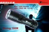 Wholesale U2 Led - Solarstorm DX1 XM -L2 U2 LED Scuba Diver Diving Flashlight 100M 12000 Lumens L2 LED Torch Waterproof Lantern Lanterna