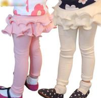 Wholesale Tight Leggings For Girl Kids - Spring Fashion Girl Pantskirt Leggings for Girls Cotton Crimping Pantskirt Children Kids Clothes Cotton Tights Girl White Pink Grey Blue