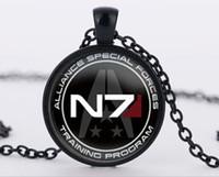 inspirar pingentes venda por atacado-Mass Effect Inspirado N7 pingente de colar de pingente de vidro do vintage Colar de jóias melhor amigo presente bijouterie Christms