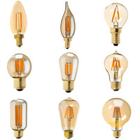 Wholesale e12 led globe bulb - C35 C32T G40 A19 ST45 ST64 G95 G125,2W 4W 6W 8W,2200K,Edison Golden Tint Style,LED Filament Bulb,Dimmable