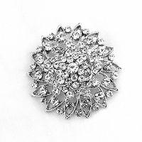 "Wholesale Vintage Plastic Brooch - Free Shipping ! 1.7""Silver Tone Blue Rhinestone Crystal Diamante Vintage Style Wedding Bouquet Bridesmaid Brooch"