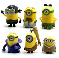 Wholesale Minions Stuff For Kids - Children Cute Toys Movies Cartoon Character Kids Stuffed Toys Despicable Me Minions Decoration For Table 6pcs Different style 4set lot T704