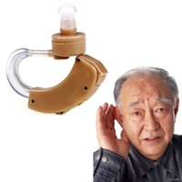Wholesale Digital Behind Ear - New Digital Tone Hearing Aids Behind The Ear Sound Amplifier Adjustable Free shipping #LY069