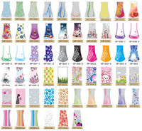 ingrosso vaso-Disegni di moda Nuovo Vaso di fiori pieghevole in PVC Vaso di grandi dimensioni in plastica pieghevole Handreds Disegni MIX L Size Vase