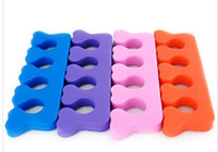Wholesale Nail Separators - Wholesale price-Finger Toe Soft Separator Nail Art Pedicure Tools