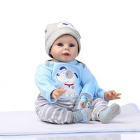 Wholesale new silicone babies dolls for sale - Group buy Dolls inch cm silicone reborn dolls lifelike baby boys newborn fashion doll Christmas gift new year gift
