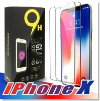 Wholesale Package For Screen Protector - For Iphone X 8 7 Tempered Glass Screen Protector For Iphone X Edition Iphone 6 S6 J3 J7 2017 0.26mm 2.5D 9H Anti-shatter Paper Package