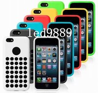 Wholesale Iphone Covers Rubber Skin Gel - New Arrival Candy Grip TPU Gel Soft Silicone Rubber Case Cover Skin Shell for Iphone 5C Mix Colors DHL Free Shipping