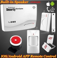 Wholesale Gsm Protection - New Wireless GSM SIM card App Smart IOS Android Home Security Burglar Voice Alarm System Auto Dialing Dialer SMS Call Protection