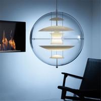 Wholesale Verner Panton - Italy Modern Verner Panton VP Globe Pendant Light Suspension Pendant Ceiling Light Chandelier Dining room Lamp Lighting Fixture Dia 40CM