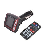 Wholesale Mp4 Car Reader - 4 in 1 MP3 MP4 player SD Card Reader FM Transmitter SD MMC Car Kits With Remote Control Free Shipping
