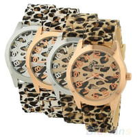 Wholesale Leopard Watch For Sale - Sale Casual Sexy Women Girls Ladies Geneva Leopard Jelly Silicone Quartz Wrist Watch Watches For Christmas gift 096O