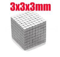 Wholesale Wholesale Neodymium Magnet Cube - 3*3*3 125 pcs 3mm x 3mm x3mm craft model super powerful strong rare earth ndfeb magnet neo neodymium n35 magnets block cube