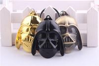 Wholesale Stormtrooper Helmets - 3 Colors Star Wars Keychain 6.5CM Stormtrooper Helmet Storm Trooper Pendant Key Chain Ring Darth Vader Mask Superhero Keyring