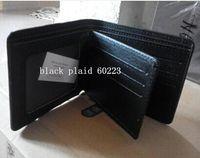 Wholesale Tartan Suit Men - male suit folder short design wallet classic luxury man bag card holder The man's wallet 60930