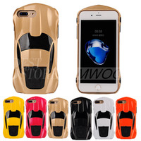 Wholesale Kong Wholesale - Transformers King Kong Car Armor Case Hard PC Shaped Cases Back Cover With Holder For iPhone 8 7 6 6s Plus 5 5s