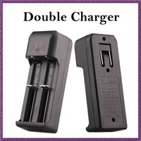 Wholesale E Packet - Double batteries E Cigarette e cig 18650 18350 Battery Charger Universal Charger for 18650 18350 Battery cheap PRICE via e packet (0205009)