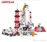 Wholesale Blocks Legoland - Space Shuttle Launching Base Building Block Sets 560pcs Legoland Educational DIY Construction Bricks Toys For Children gift
