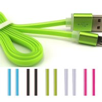 Wholesale s3 crystal - Candy Color Flat USB Cable for Android Phone Samsung S4 S6 S3 NOTE 4 Crystal Micro Charging Cord & Data Transfer Sync Charge Line