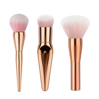 Wholesale women makeup cosmetic contour for sale - Group buy 3pcs Big Head Size Makeup Brush Set High Quality Foundation Soft Women Rose Gold Face Blush Brush Contour Cosmetic Brush M03188