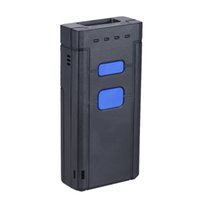 Wholesale Portable Barcode Readers - Wholesale- Portable 1D Bluetooth Wireless Barcode Scanner Barcode Reader Portable Scanner Barcode Receiver for Supermarket Express