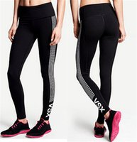Wholesale Flash Pants - VS Tight Leggings For Women 6 Design S M L XL XXL XXXL Sweat Absorption and Flash Drying Sports Gym Fitness Yoga Running Tight Pants NEW