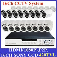 Sistema de Câmara de 420TVL 16CH DVR CCTV Segurança (8 Indoor Outdoor 8) Câmara Day Night IR DIY Kit Vídeo Surveillance System