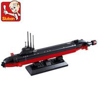 Wholesale Sluban Aircraft - FG1511 Sluban building blocks assembled aircraft carrier submarine children fight inserted Tongkai Zhi military model